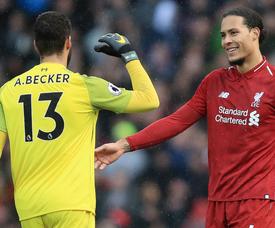 Alisson Van Dijk Liverpool 2018-19. GOAL
