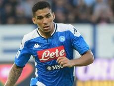 Il mediano brasiliano del Napoli Allan. Goal