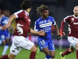 Allan Saint-Maximin, lors du match de Ligue 1 entre Metz et Bastia. AFP