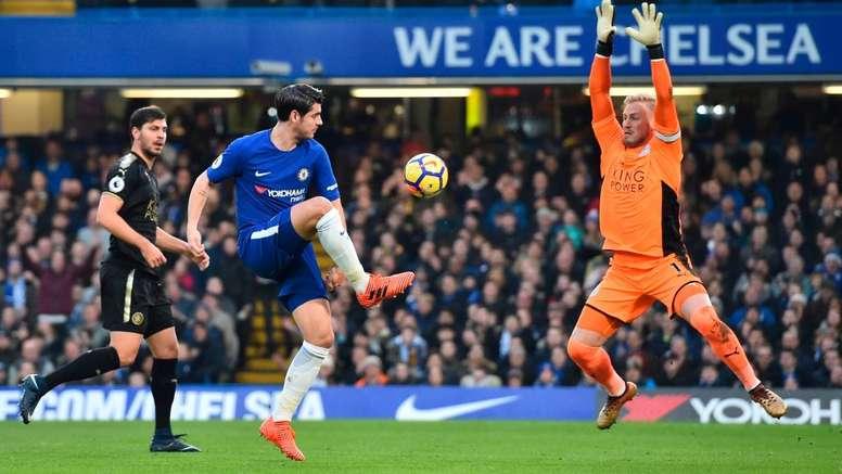 Alvaro Morata, Chelsea Leicester. GOAL