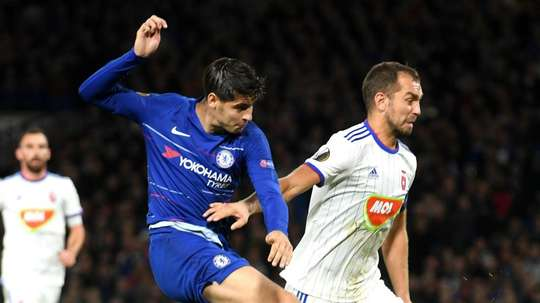 Morata ended his drought in the win. GOAL