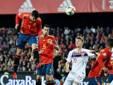 Luis Enrique defends Morata after Norway misses.