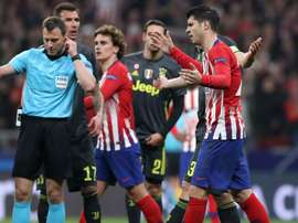Koke on Morata's disallowed goal