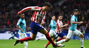 Simeone hopeful Morata is back on the goal trail for Atletico. AFP