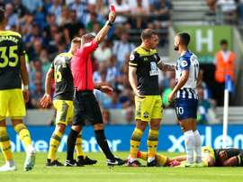 Lineker and Carney condemn Brighton striker Andone for red-card lunge. GOAL