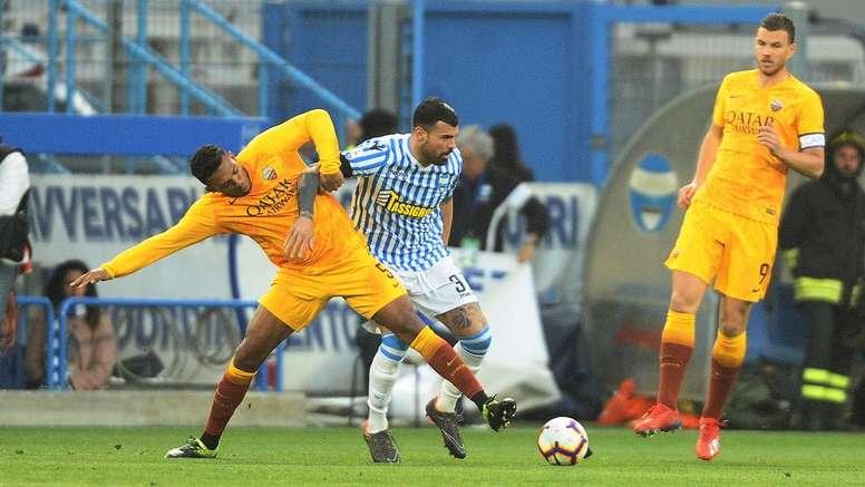 Cartellino giallo per Dzeko. Goal