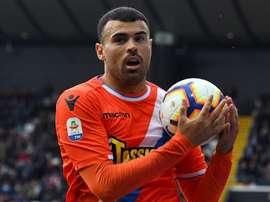 L'attaccante della Spal Petagna, ex Atalanta. Goal