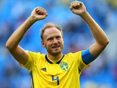 Andreas Granqvist scored twice at the World Cup in Russia. GOAL