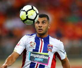 Andrew Nabbout scored a stunning goal to earn the Jets a draw. GOAL