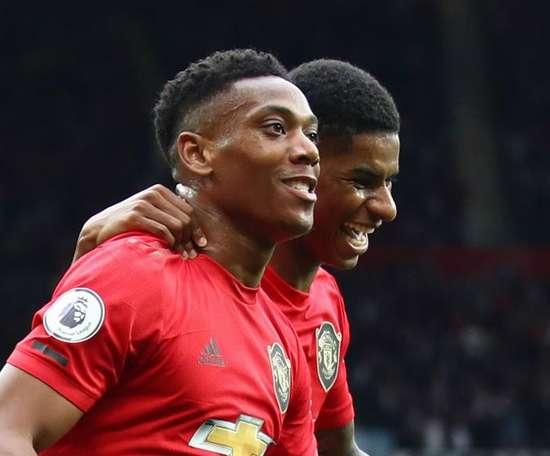 Martial enjoys pressure of leading the Manchester Utd line. GOAL