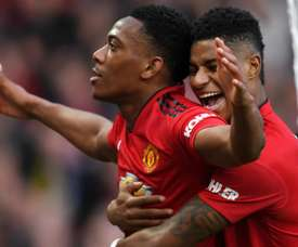 Martial (L) and Rashford could play in different positions in Man U front line. GOAL