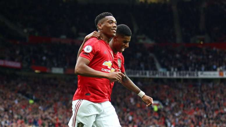 Martial helped United to a historic 4-0 win over Chelsea. GOAL