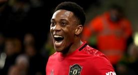 Manchester United - Martial concentré sur son rôle d'avant-centre. AFP