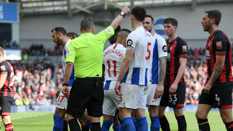 Knockaert saw red for Brighton and let his side down. GOAL