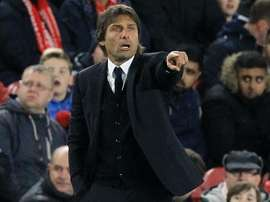 Antonio Conte gestures on the touchline for Chelsea. Goal