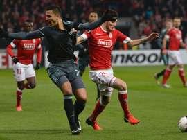 Anwar El Ghazi, pendant un match avec l'Ajax. Goal