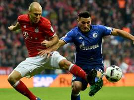 Arjen Robben dans un match de Bundesliga entre Bayern Munich et Schalke. AFP