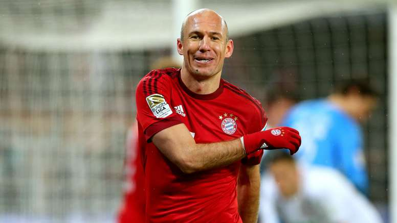 Arjen Robben in action for Bayern Munich. Goal