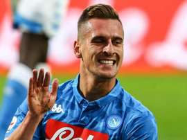 Milik oro di Napoli. Goal