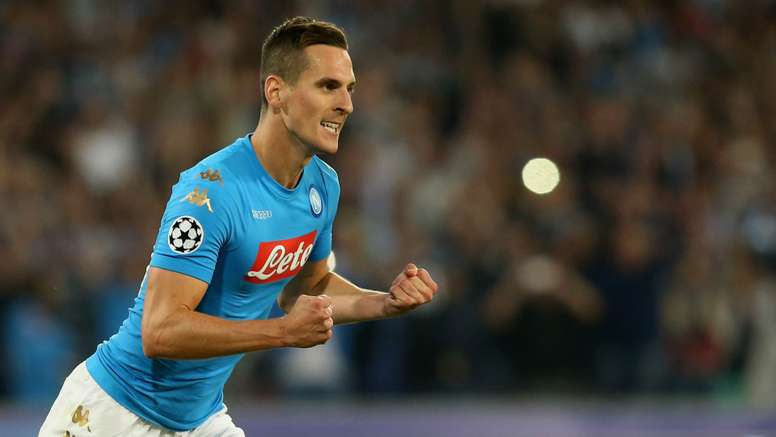 Arkadiusz Milik suffered a cruciate ligament injury earlier in the season. Goal