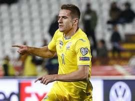 Dynamo Kiev and Ukraine striker Besedin facing doping charge. AFP