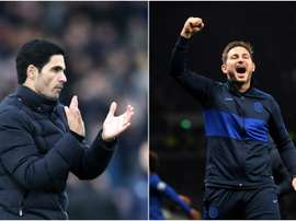 Lampard (R) believes Arteta needs to be given more time at the Emirates. GOAL