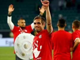 Arturo Vidal Philipp Lahm Bayern champion