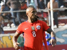 O internacional chileno, Arturo Vidal. Goal