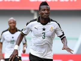 Asamoah Gyan led Ghana into the quarter-finals. Goal