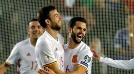 Momento da celebração do gol de Illarramendi. Goal