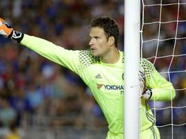 Asmir Begovic is on his way out at Stamford Bridge. Goal