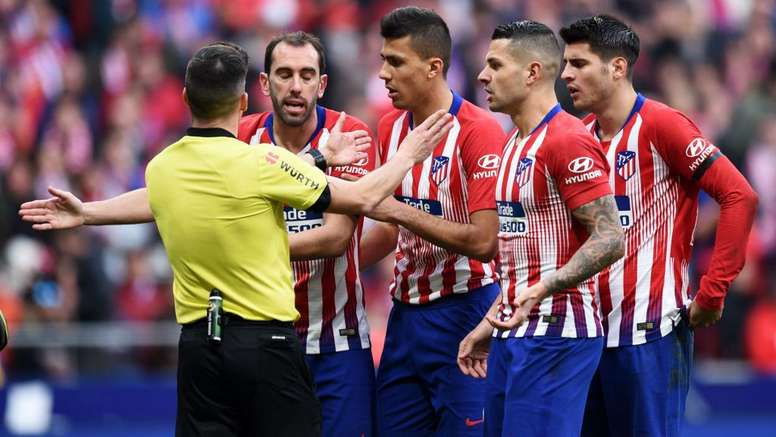 Atletico highlight VAR controvery with screenshots from derby defeat.