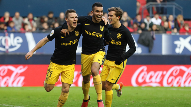Atletico Madrid celebrates Atletico Madrid Osasuna La Liga