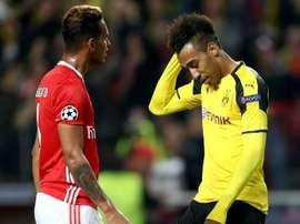 Aubameyang lamenting his missed penalty. Goal