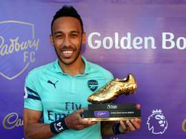 Aubameyang is happy to share trophy with two fellow Africans. GOAL