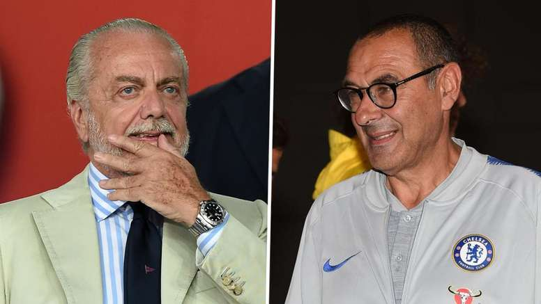 Image result for Maurizio Sarri and De Laurentiis