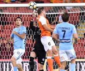 Papadopoulos scored twice as Brisbane Roar beat Melbourne City. GOAL