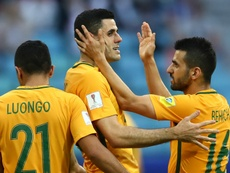 Aziz Behich is confident Australia can beat Cameroon. GOAL