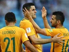 Aziz Behich is confident Australia can beat Cameroon. GOAL