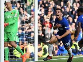 Azpilicueta a marqué le troisième but de Chelsea. GOAL