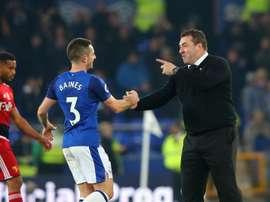 Baines hailed Unsworth's inspirational team talk against Watford. GOAL