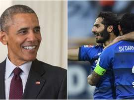 Barack Obama follows Darmstadt on Twitter. Goal