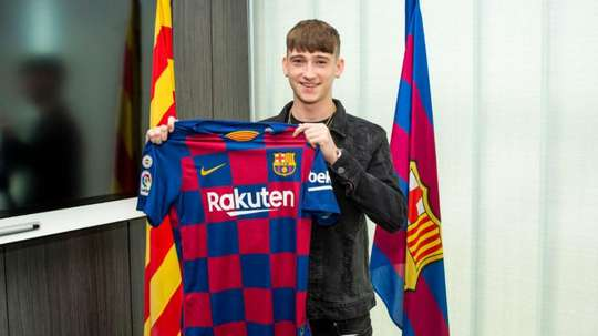 The 16 year-old Englishman has been signed by Barcelona. GOAL