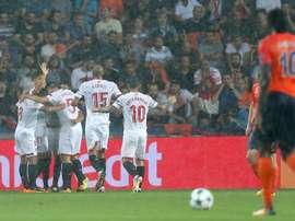 Le FC Séville s'est imposé ce soir en Turquie. AFP