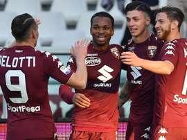 Le Torino va joueur contre l'Atalanta dans les mêmes couleurs que le club brésilien. Goal