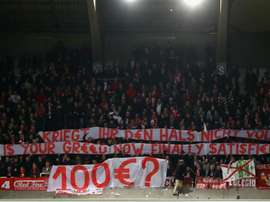 Bayern were fined in December after fans protested. GOAL
