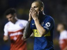 Annoncé à l'OM, Dario Benedetto est blessé selon Boca Juniors. AFP