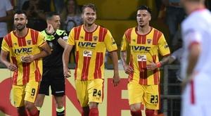 Les joueurs du Benevento lors d'un match. AFP