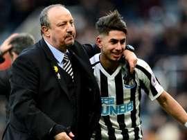 Perez said Benitez leaving influenced his decision to leave Newcastle. GOAL