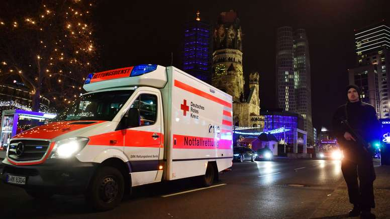Emergency services are present at the scene of the Berlin attack. Goal